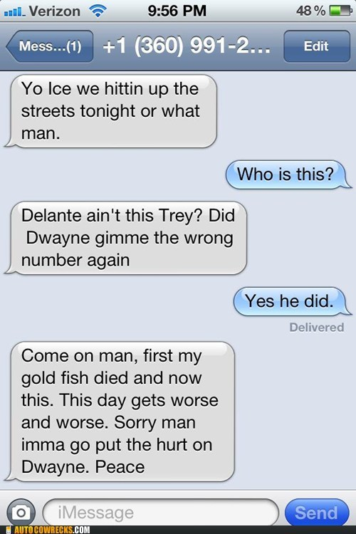 Dwayne iPhones who is this wrong number - 6381901824