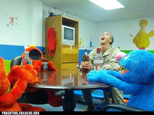 elmo,grover,military,Sesame Street,stuffed animals