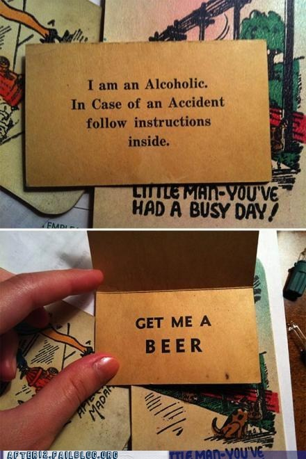 accident beer get me a beer in case of accident - 6381918208