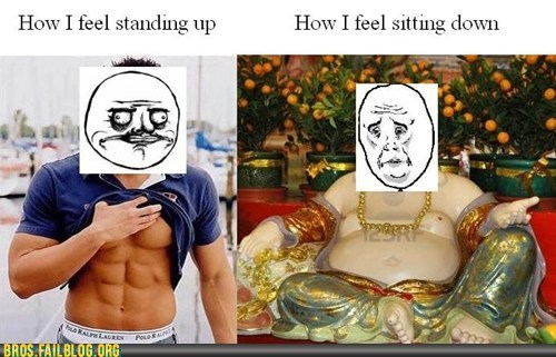 abs,bros,fat,g rated,sitting,standing