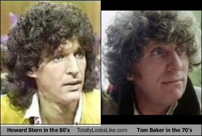 Howard Stern in the 80's Totally Looks Like Tom Baker in the 70's