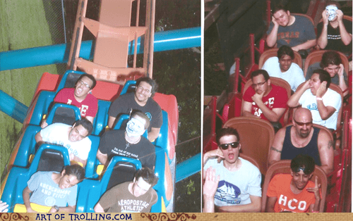 IRL mask roller coaster trollface - 6382021888