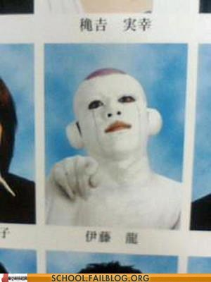 creepy,Japan,only in japan,what the hell,yearbook club