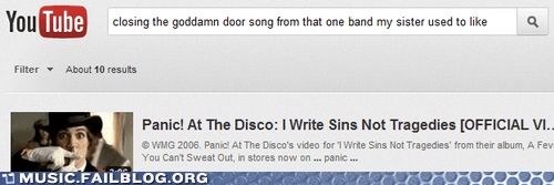 closing the goddamn door,i write sins not tragedie,i write sins not tragedies,Panic at the Disco,search,youtube