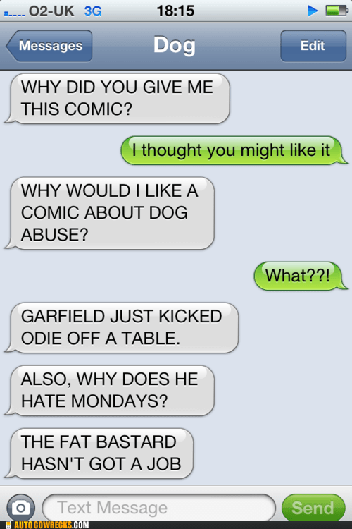 garfield get a job mondays texts from dog - 6382167040