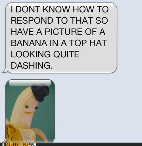 AutocoWrecks banana in a top hat dashing dont-know-how-to-respond g rated iPhones - 6382338048