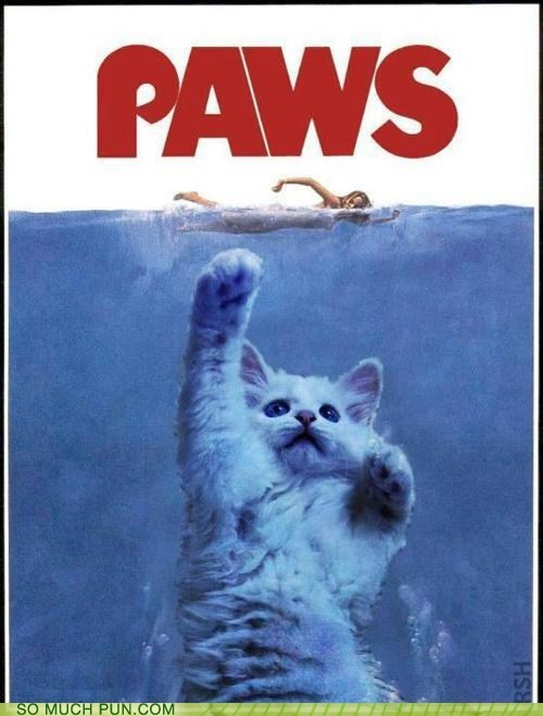 j,jaws,letter swap,Movie,π,paws,poster,steven spielberg