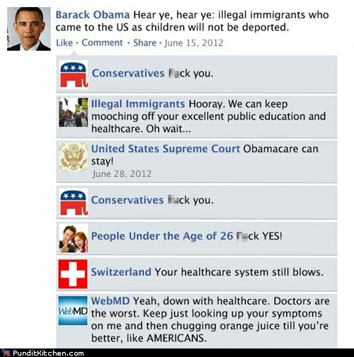 barack obama,facebook,Hall of Fame,political pictures,universal healthcare