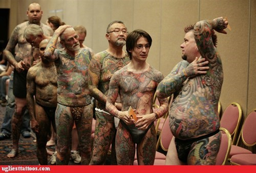 body tattoos,group photo,tattoo convention
