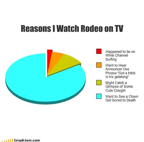 Reasons I Watch Rodeo on TV