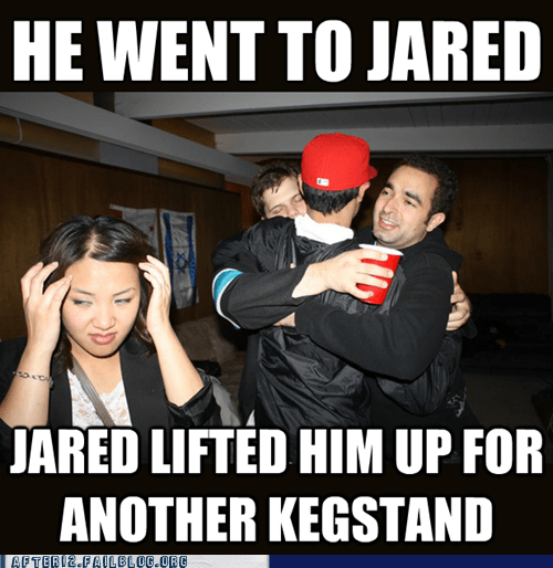 he went to jared,Jared,rejected girlfriend