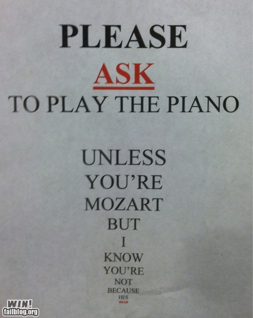 mozart Music piano sign store - 6382938112