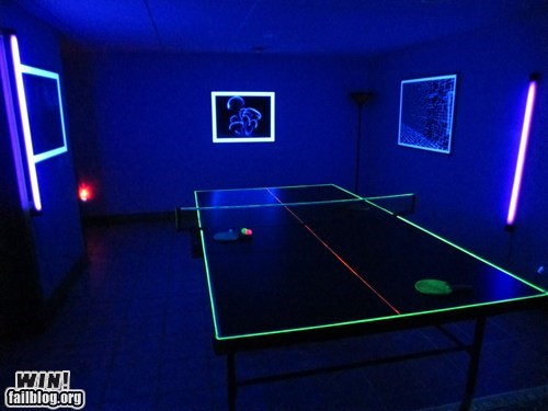 blacklight design glow in the dark ping pong pong