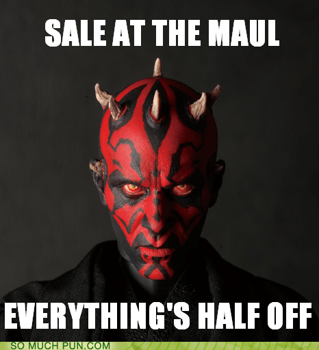 darth maul double meaning homophone literalism mall maul - 6383254016