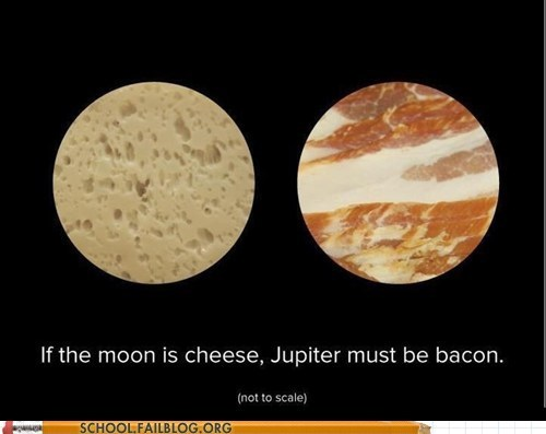 Astronomy,jupiter bacon,moon is cheese,nerdy noms