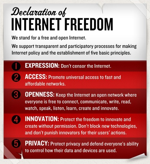 declaration declaration of internet f declaration of internet freedom Internet Freedom