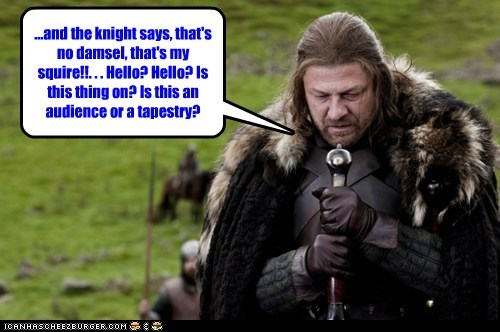 bombing,Eddard Stark,Game of Thrones,helo,jokes,kight,mic,sean bean,stand-up comedy