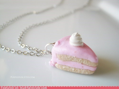cake,chain,frosting,miniature,necklace,pendant