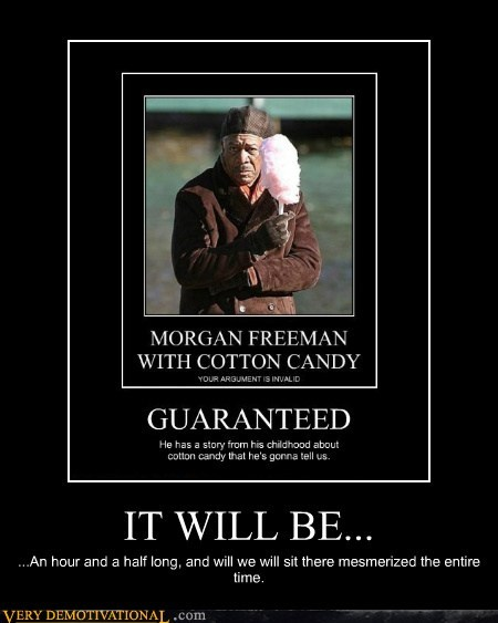 cotton candy,hilarious,Morgan Freeman