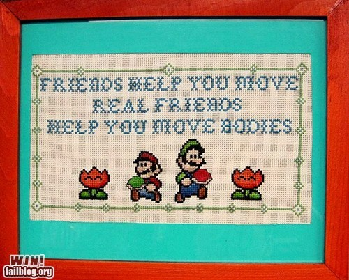 cross-stitching friends nerdgasm super mario - 6384809984