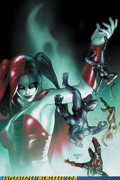 Awesome Art,Harley Quinn,huge,shark