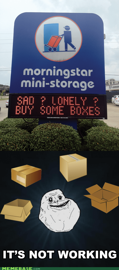 boxes,forever alone,lonely,storage