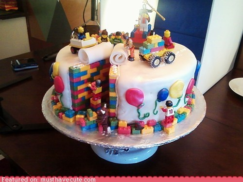 beautiful build cake epicute fondant lego - 6385659136
