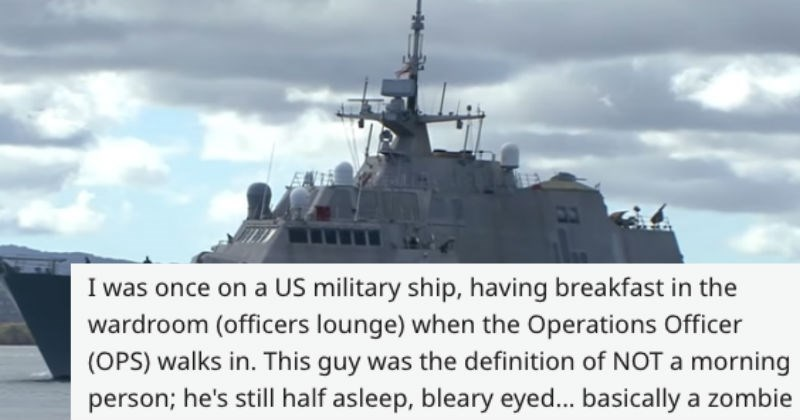 breakfast officer navy military bagel sun story ship funny - 6385925