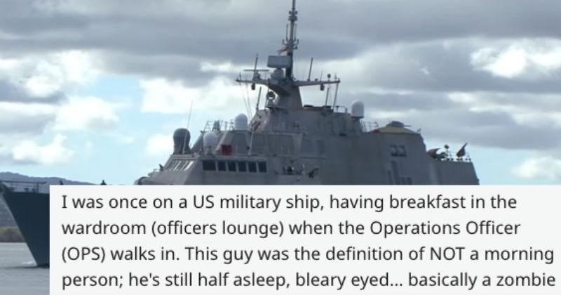 breakfast officer navy military bagel sun story ship funny - 6385925
