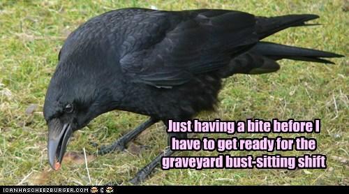 bust captions crow graveyard shift midnight statue work - 6387287808