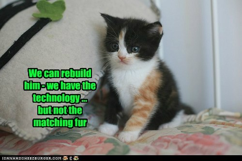 We can rebuild him - we have the technology ... but not the matching fur