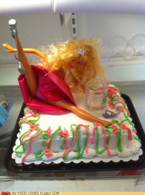 Barbie birthday cake naughty