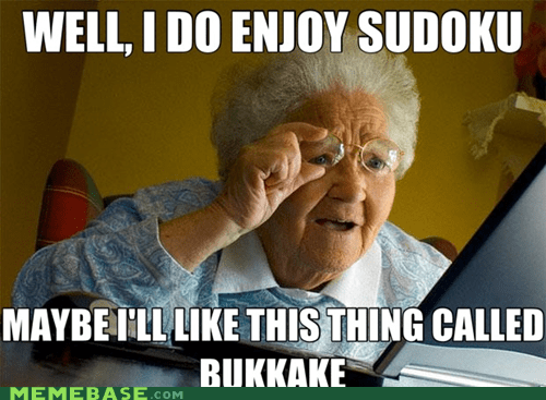 grandma ive-seen-enough ive-seen-enough-japanese-entertainment Japan sudoku the b word