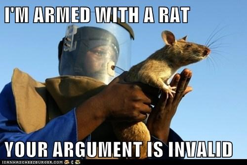 armed,holding,rat,smile,your argument is invalid