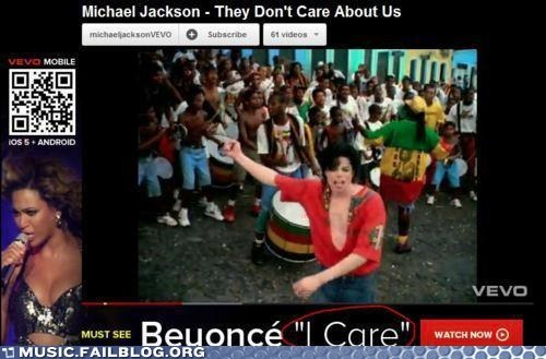Ad beyoncé i care michael jackson they-dont-care-about-us youtube - 6388787968