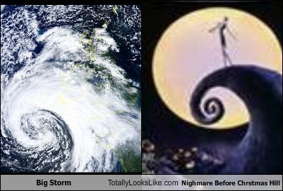 Big Storm Totally Looks Like Nighmare Before Chrstmas Hill
