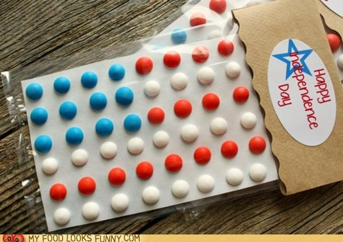 candy buttons crappy flag gross paper