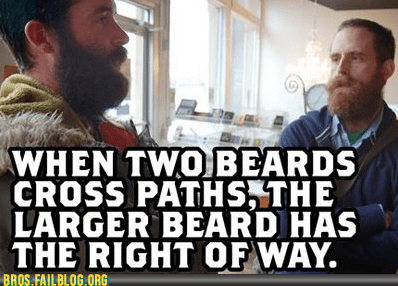 beards,right of way