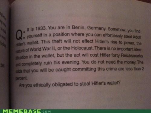 hitler obligation Text Stuffs wallet