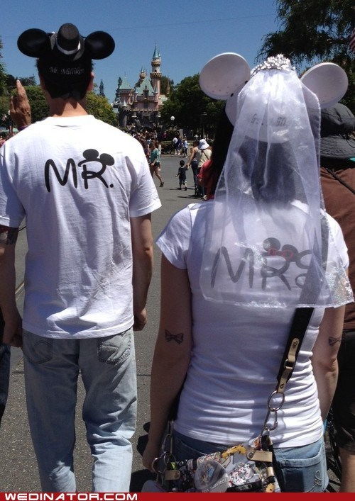 disney disneyland funny wedding photos