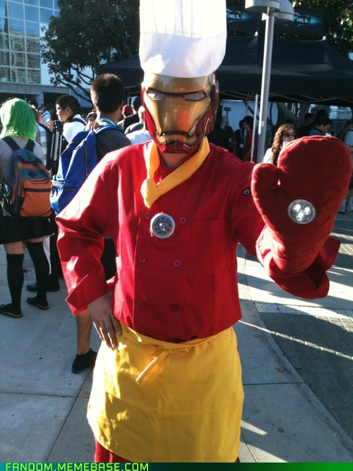 chef,cosplay,iron man,marvel,superheroes