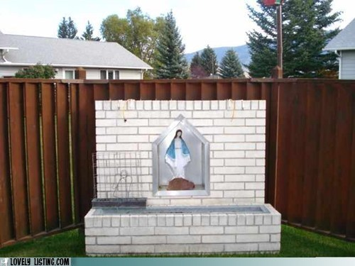 best of the week,catholic,shrine,virgin mary,yard