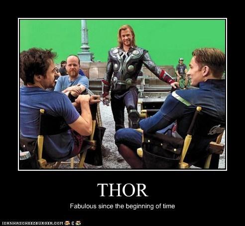 avengers behind the scenes chris evans chris hemsworth fabulous Joss Whedon pose robert downey jr Set Pic - 6389187584