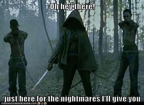 hey there,nightmares,scarring,scary,The Walking Dead,zombie
