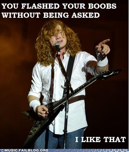breasts dave mustaine iron maiden - 6389451776