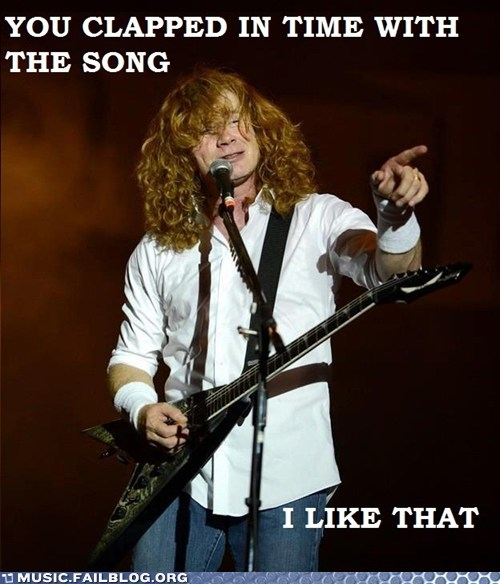 clapping,dave mustaine,In Time,iron maiden