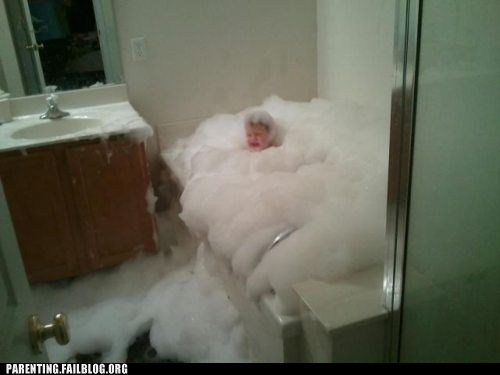 bathtub,bubble bath,too many bubbles