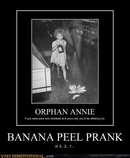 banana peel hilarious orphan annie prank - 6390283264