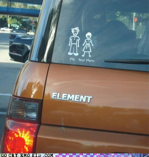 bumber sticker car stick family weird kid your mom - 6390309376