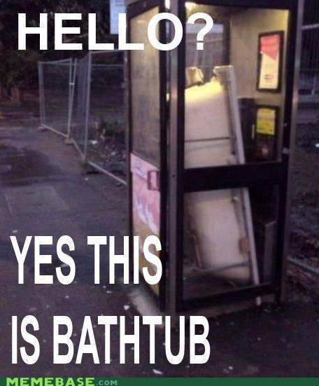 bathtub hello Memes phone booth tardis this is dog - 6390397184